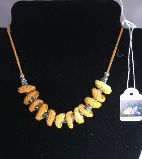 Crochet Disc Necklace